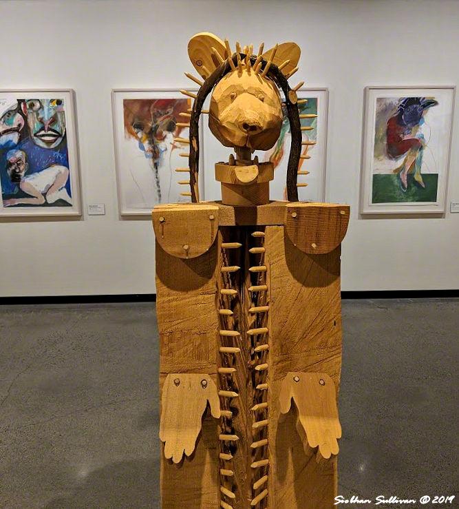 Spirits captured by Rick Bartow, High Desert Museum February 2019