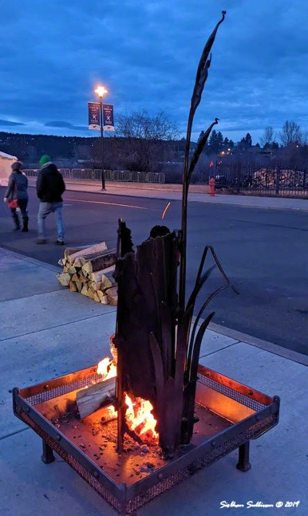 Outdoor sculpture at WinterFest in Bend, Oregon 14February2020