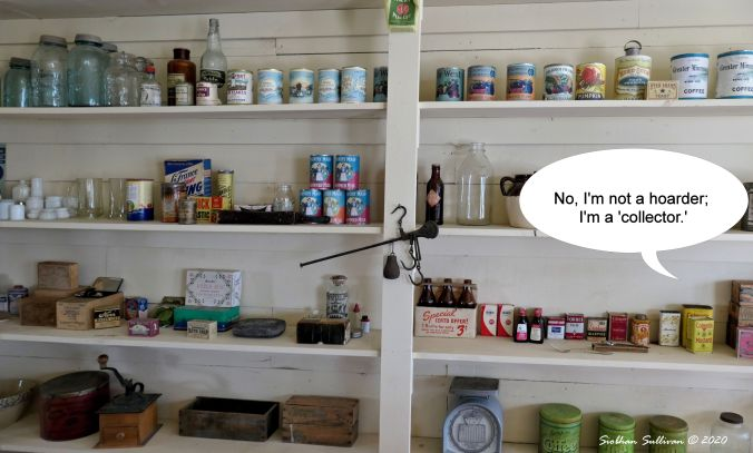 Shelves in the General Store in Fort Rock Museum, Oregon May 2019