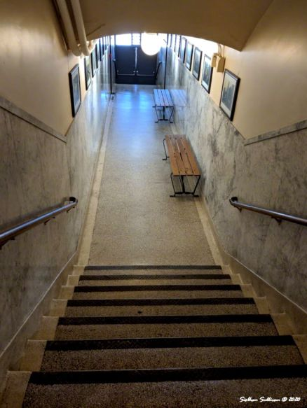 Marble lined hallway, Corbett, Oregon October 2019