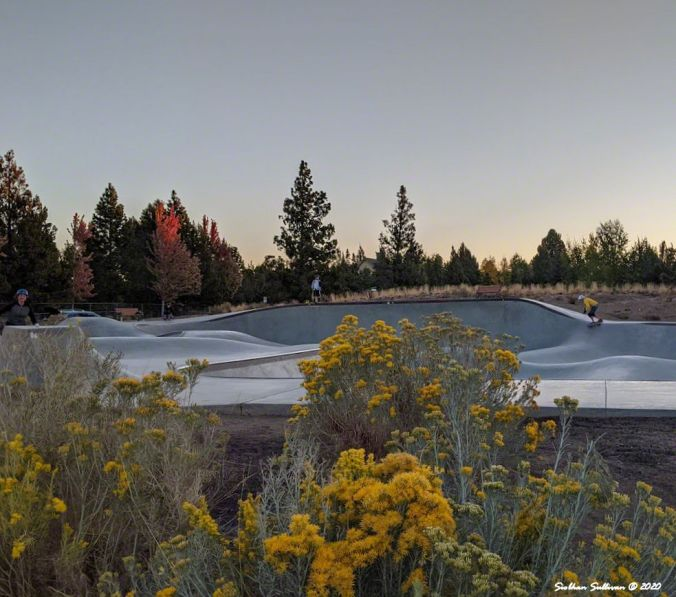 Rockridge Skatepark in Bend October 2020