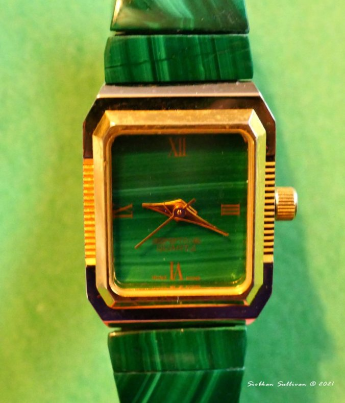 Watch with malachite January 2021
