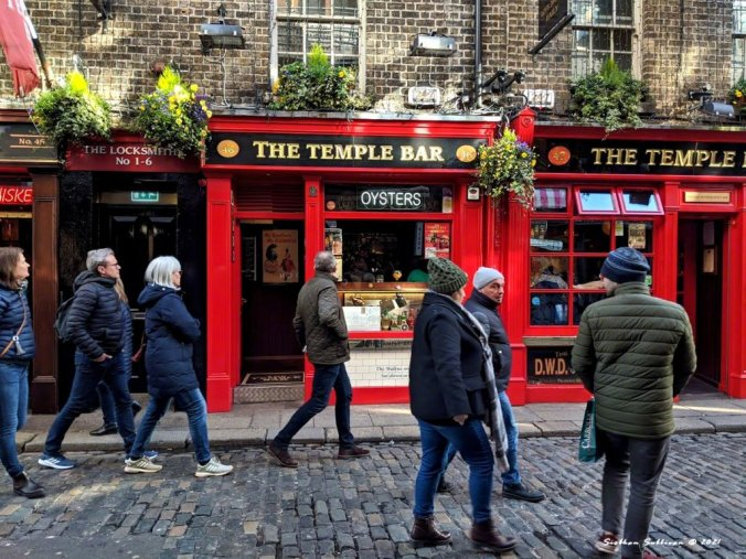 The Temple Bar in Dublin March 2020