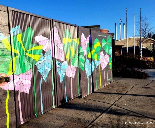 Colocasia Esculenta mural