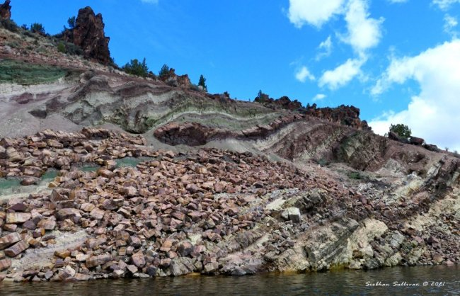 Layered rock formations