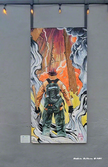 Alley art - Firebreather. Bend, Oregon
