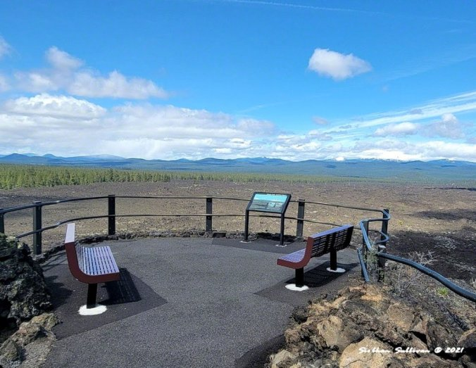 Volcanic views from Lava Lands, Oregon