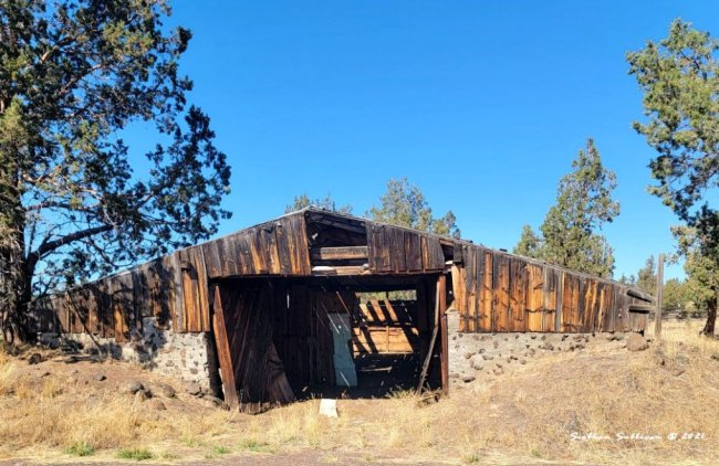 Old earthen barn