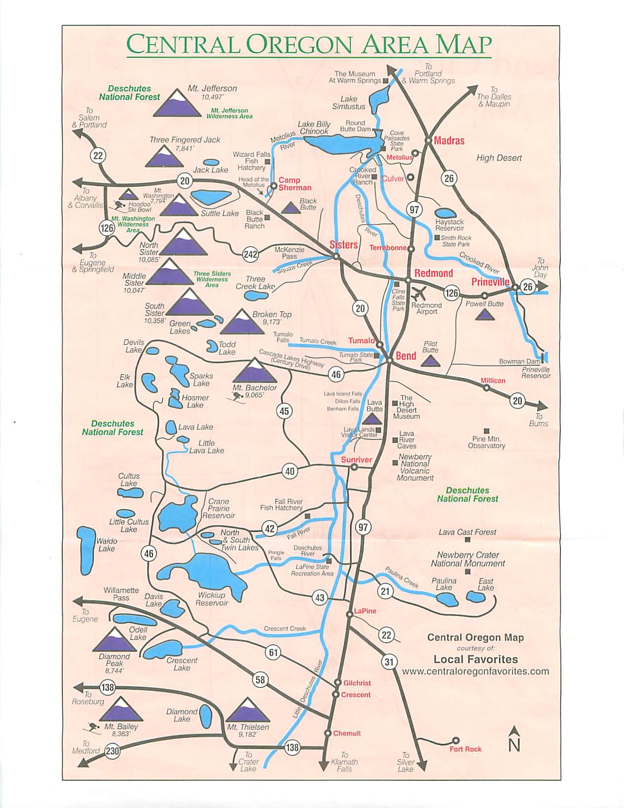 Printable Map Of Oregon Trail