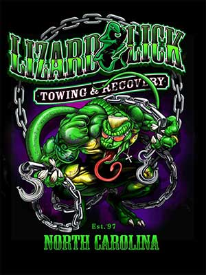 Lizard & Lick Towing & Recovery - Screen Printing samples