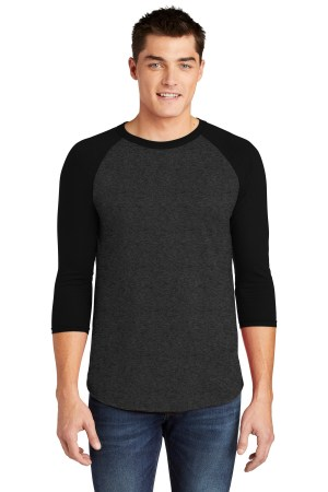 American Apparel  Poly-Cotton 3/4-Sleeve Raglan T-Shirt. BB453W