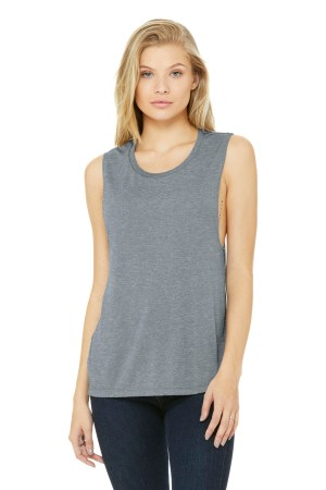 BELLA+CANVAS  Women's Flowy Scoop Muscle Tank. BC8803