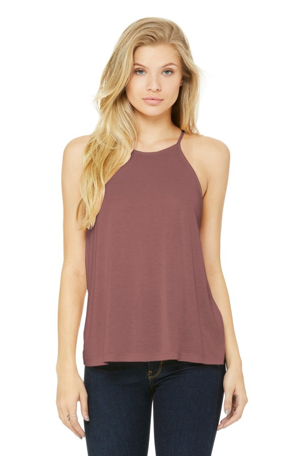 BELLA+CANVAS  Women's Flowy High-Neck Tank. BC8809