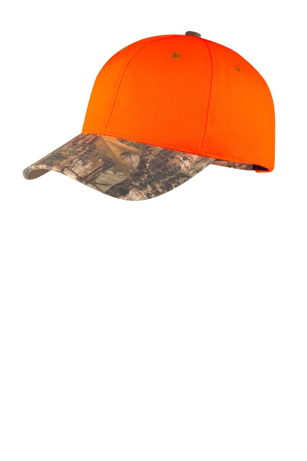 Port Authority Enhanced Visibility Cap with Camo Brim. C804