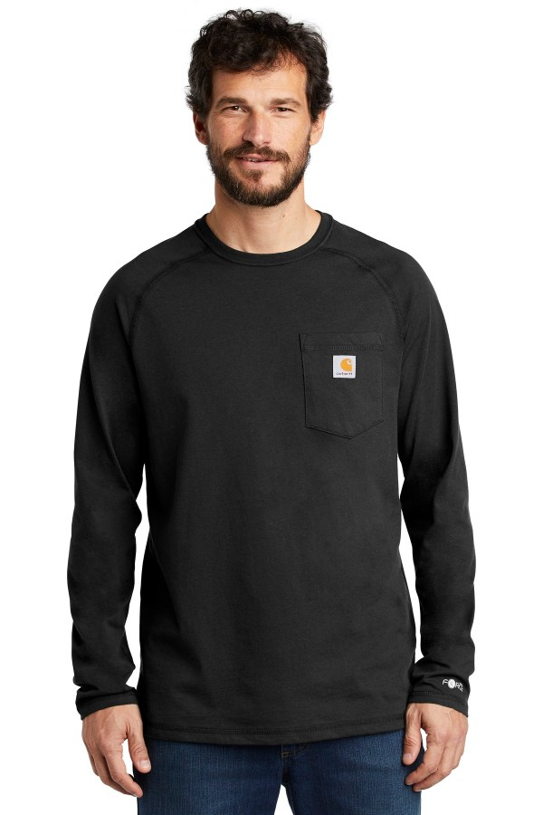 Carhartt Force  Cotton Delmont Long Sleeve T-Shirt. CT100393