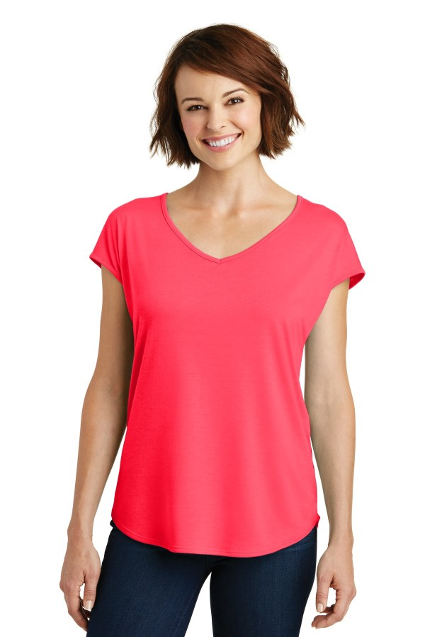 District  Women's Drapey Cross-Back Tee. DM416