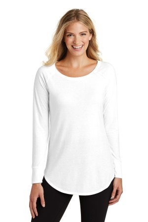 District  Women's Perfect Tri  Long Sleeve Tunic Tee. DT132L