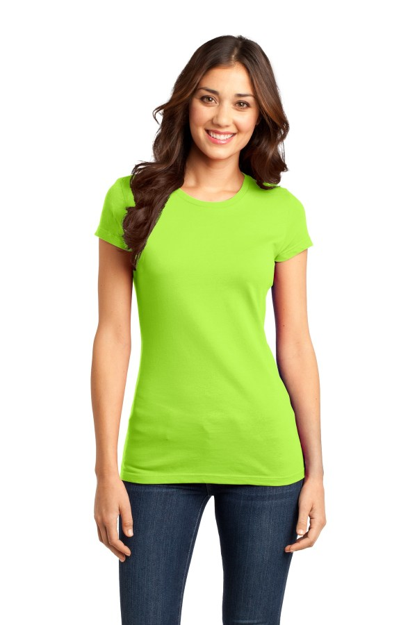 District Women's Fitted Very Important Tee. DT6001