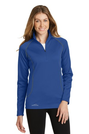 Eddie Bauer Ladies Smooth Fleece Base Layer 1/2-Zip. EB237