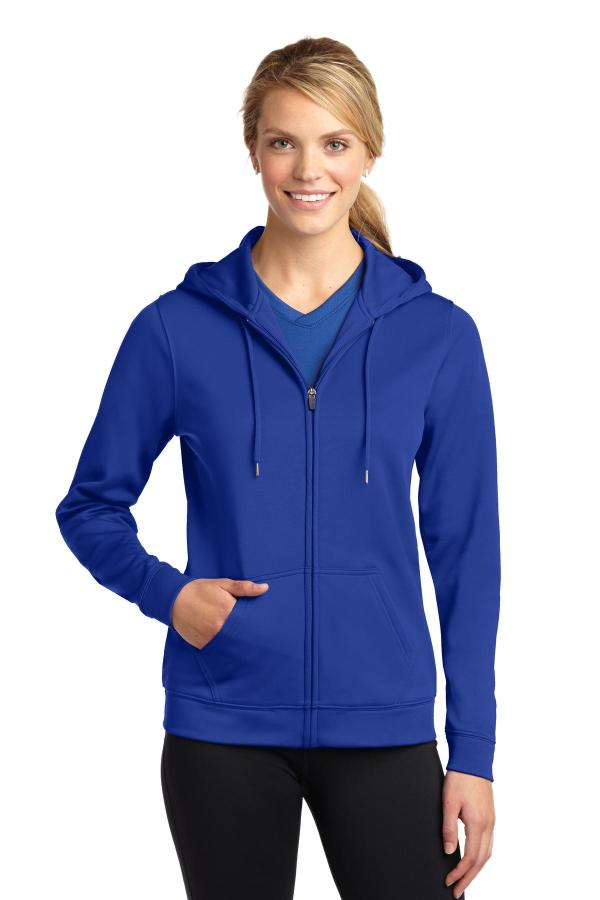 Sport-Tek Ladies Sport-Wick Fleece Full-Zip Hooded Jacket. LST238