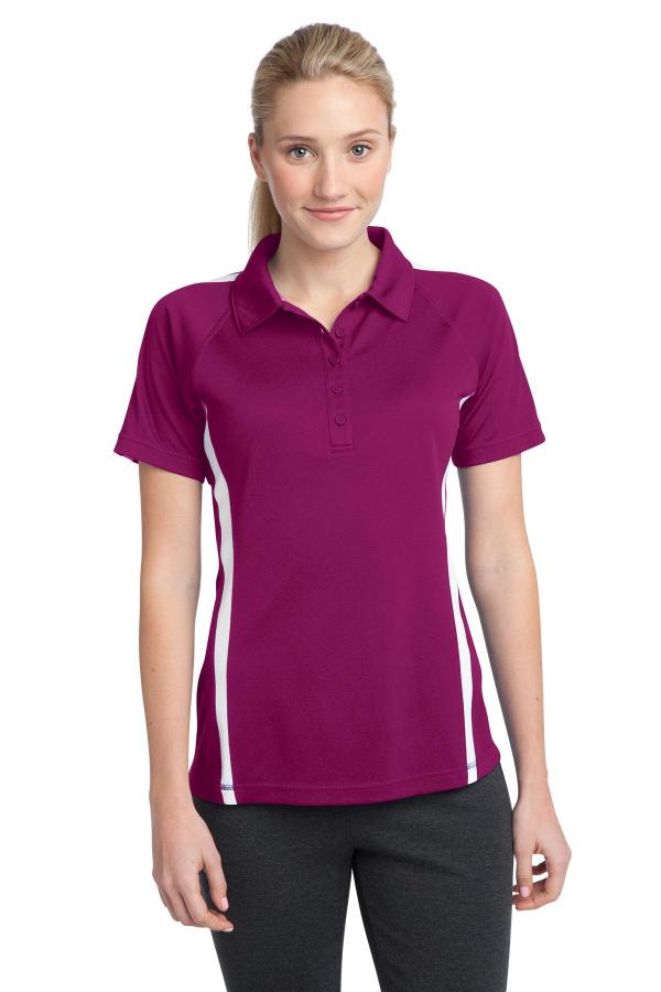 Sport-Tek Ladies PosiCharge Micro-Mesh Colorblock Polo. LST685