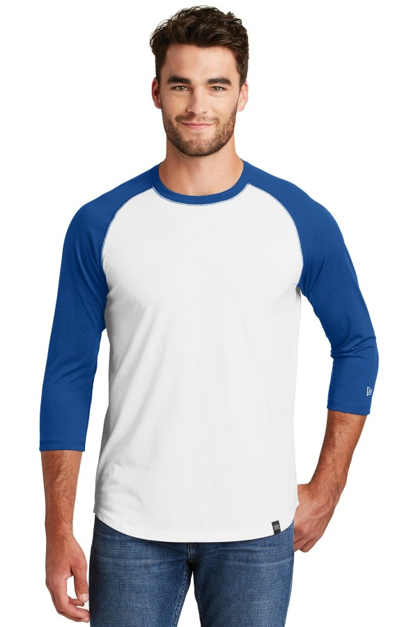 New Era  Heritage Blend 3/4-Sleeve Baseball Raglan Tee. NEA104