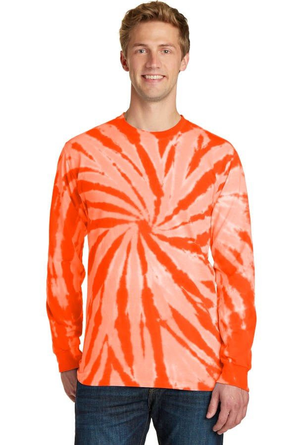 Port & Company Tie-Dye Long Sleeve Tee.  PC147LS
