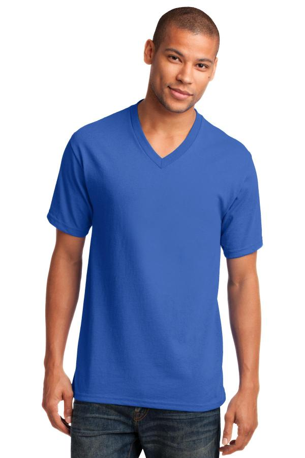 Port & Company Core Cotton V-Neck Tee. PC54V