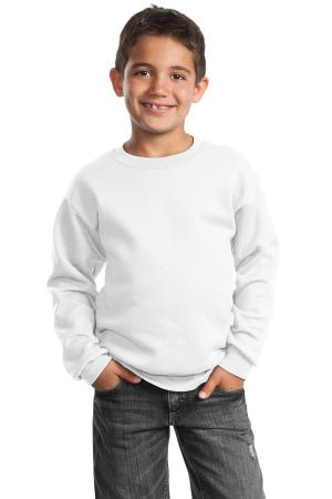 Port & Company - Youth Core Fleece Crewneck Sweatshirt.  PC90Y