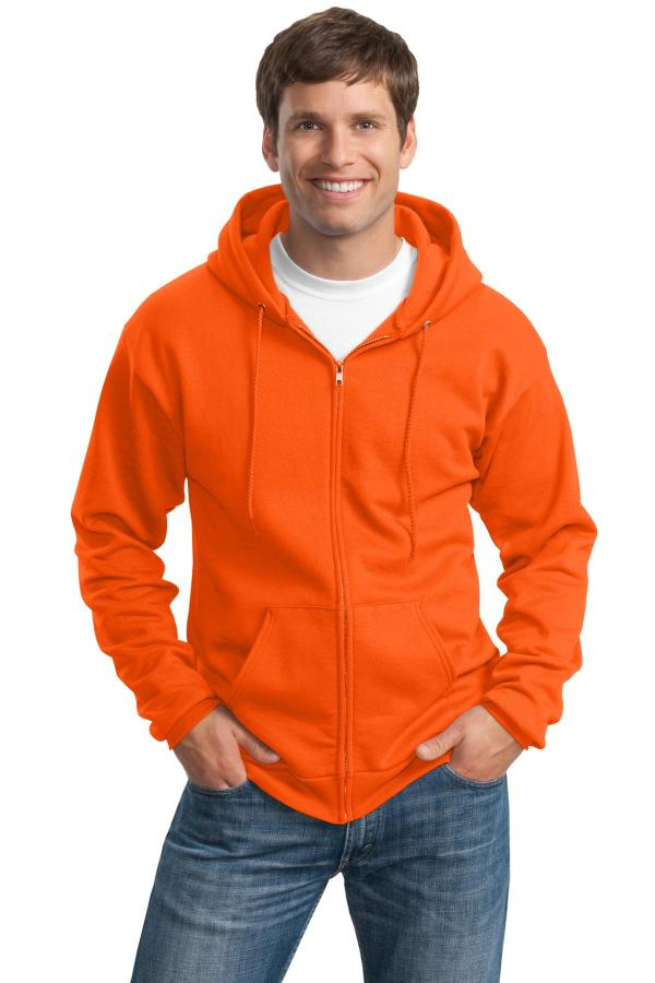 Port & Company Tall Essential Fleece Full-Zip Hooded Sweatshirt. PC90ZHT