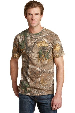 Russell Outdoors - Realtree Explorer 100% Cotton T-Shirt with Pocket. S021R