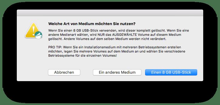 macOS Sierra Installation USB-Stick bootfähig erstellen mit DiskMaker X
