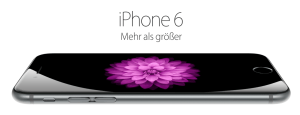 Bildschirmfoto Apple iPhone 6. Quelle: Apple