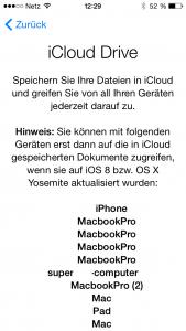 Apple iCloud Drive auf dem iPhone