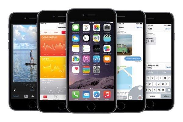 iPhone 6 und iOS8. Quelle: Apple