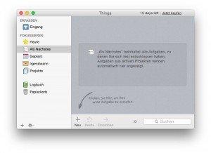 Things 2 auf dem Mac