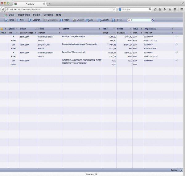 TOPIX WebSolution: Angebote