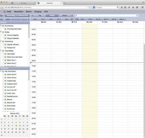 TOPIX WebSolution: Kalender