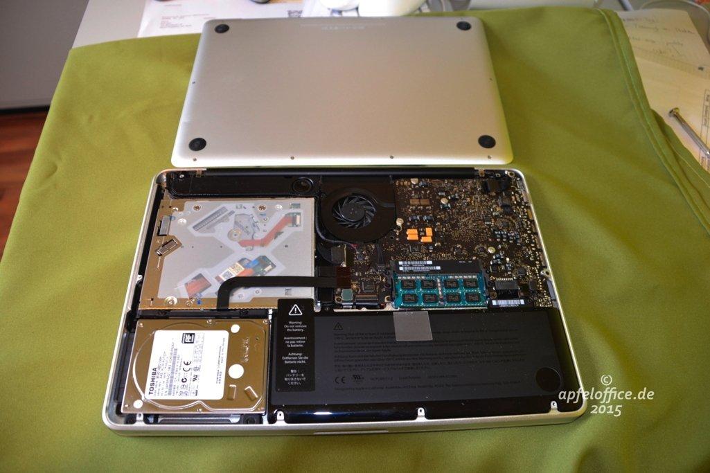 Ein Macbook Pro von innen
