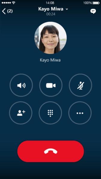 Skype for Business iOS. Quelle: Microsoft