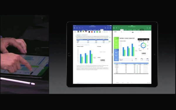 Microsoft Office für Ipad ist optimiert für den Einsatz mit Apple Pencil. Quelle: Apple