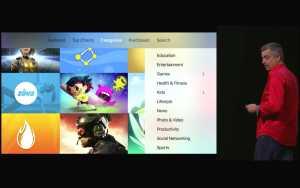 Apple TV verwendet Apps, um Inhalte auf dem TV darzustellen. Quelle: Apple