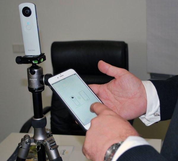 Immobilienmakler-Trick: iPhone als Fernauslöser der Rundumsicht-Kamera
