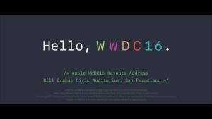 Apple Keynote 2016 zur WWDC. Quelle: Apple