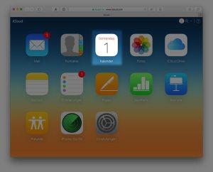 Die Kalender-Anwendung im iCloud-Dienst online