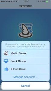 """Merlin Project Go 4.2 synchronisiert über alle """"Boxen"""" und den Server"""