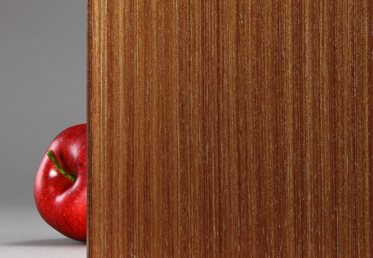 "Wood Veneer Laminated Glass ""Mahogany"" Bendheim"