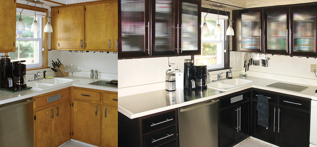 refacing kitchen cabinets diy black slate floor tiles makeover: how to install new cabinet ...