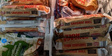 Josh Schmobs' freezer drawer is full of Aldi's sausage rolls. He has no shame.