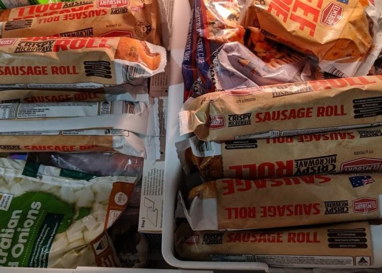 Josh Schmobs' freezer drawer is full of Aldi's sausage rolls. He has no shame.